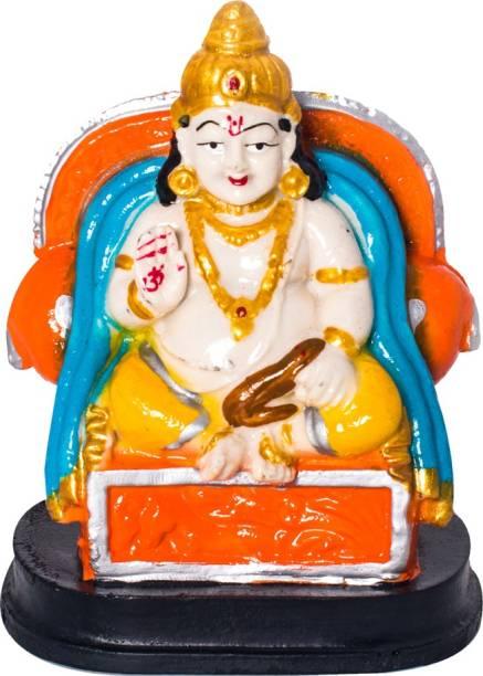 Kitlyn Kuber Murti Dhan Kuber Statue Kuber ji Murti For Use Diwali Puja, Spiritual Puja Vastu Figurine, Home Decor, Office Decor, Temple, Classroom Decoration, Birthday Gift, Wedding Gift, Anniversary Gift etc Decorative Showpiece  -  13 cm