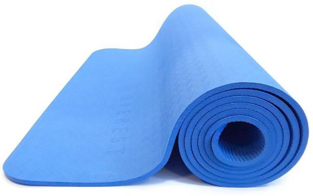 Fitness Mantra Indian Anti Skid Yoga Mat with Strap Blue 6 mm Yoga Mat