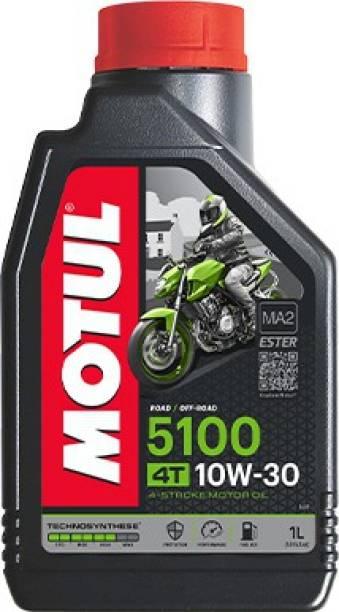 MOTUL 5100 4T 10W-30 Technosynthese Ester Synthetic Blend Engine Oil