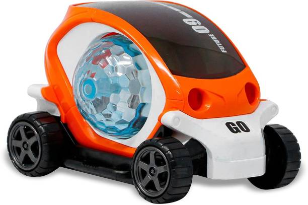 Miss & Chief 360 Degree Rotating Stunt Car Bump with 4D Lights, Dancing and Muscial Car Toy, Battery Operated Car Toy