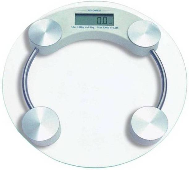 Qoibito Personal Weight Machine Human Body Digital Transparent Tampered Glass Weighing Scale