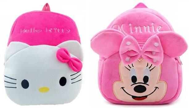 KAIN Minie & Hellokitty Kids School Bags 10L Baby/Boys/Girls (2 To 5 Year/Yellow) combo Plush Bag Plush Bag