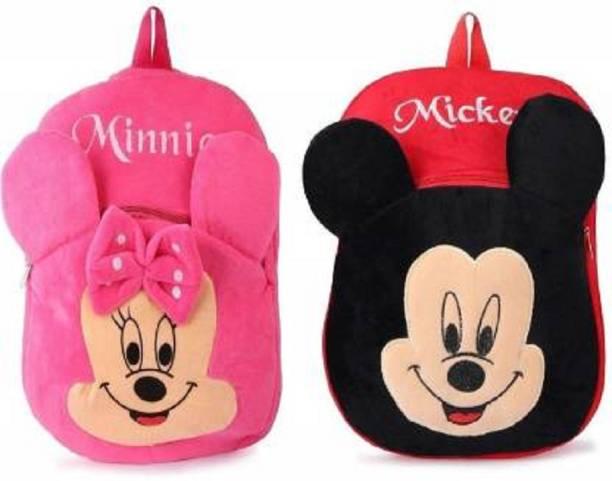 KAIN Minnie & Mickey Kids School Bags 10L Baby/Boys/Girls (2 To 5 Year/Yellow) combo Plush Bag Plush Bag