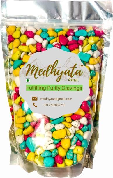 Medhyata Colorful Sugar- Coating Chocolate Candy Beans/Stone Shape Chocolate Beans Crackles