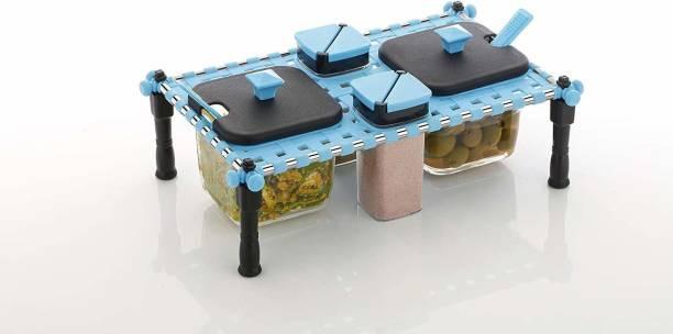 MILTO FANCY CHAR PAI PICKLE CONTAINER SET (PICKLE CONTAINERS, DRY FRUIT CONTAINERS, DINNING TABLE DECORATER) 1 Piece Spice Set