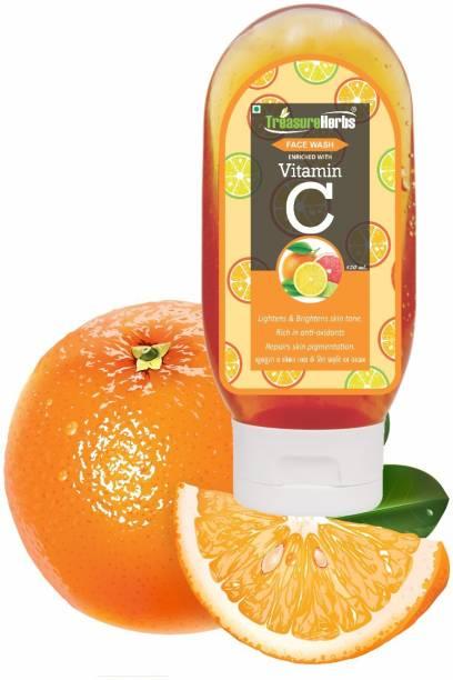 TreasureHerbs Vitamin C  For Skin Brightening and Tan removal (120 ml) Face Wash
