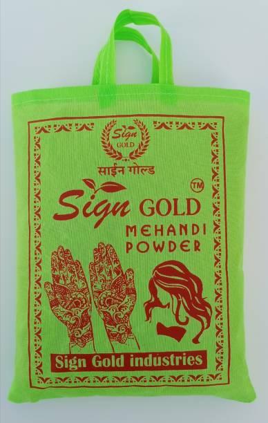 sign gold 100% Rajasthani Pure & Natural Organic Herbal Henna Mehandi powder 1kg