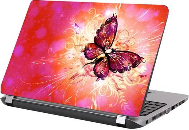 KALARKARI Laptop Skin butterflyskin Premium matte finish vinyl HD printed Easy to Install Laptop Skin/Sticker/Vinyl/Cover for all size laptops upto 15.5 inch vinyl Laptop Decal 15.6