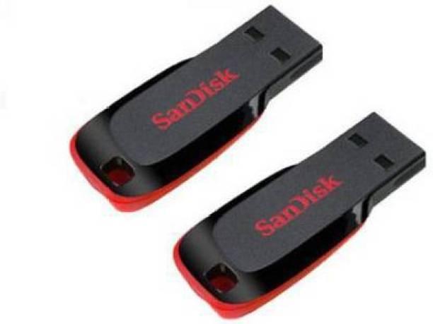 SanDisk Cruzer Blade Pack of 2 32 GB Pen Drive