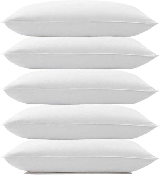 NB COMFORTS Polyester Fibre Solid Sleeping Pillow Pack of 5