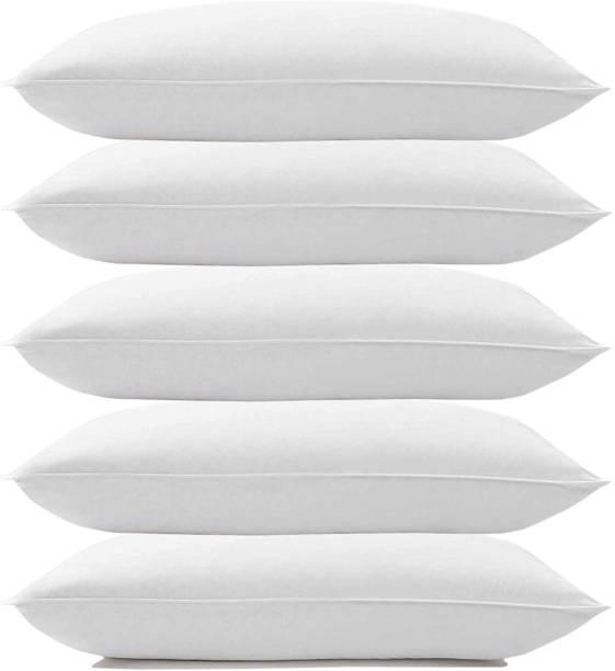 KALPANA INDUSTRIES SOFT PILLOW Cotton Solid Sleeping Pillow Pack of 5