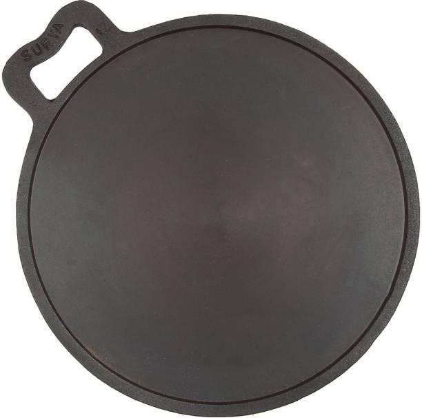 SKL Dosa Tawa smooth finish machined and Seasoned Cast Iron Skillet Tawa 30.5 cm diameter