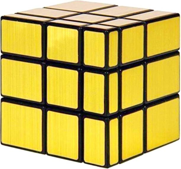FOBHIYA Magic Combination 3D Puzzle Smooth Mirror Cube 3x3 Match-specific Speed Cubes, Stickerless Twisty Puzzle High Stability Cubes for Kids (Gold, Magic Mirror Cube)