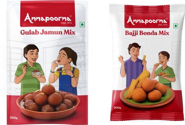 Annapoorna Twin Pack (Gulab Jamun Mix & Bajji Bonda Mix) 200gms Each 400 g