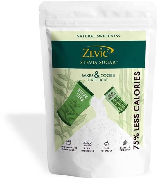 Zevic Stevia Sugar 75% Less Calories Tastes Like Sugar Sugar