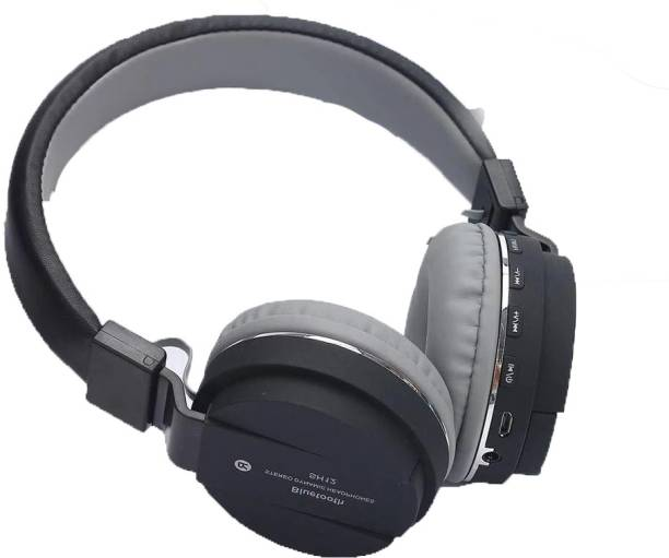 AMUSING SH12 Foldable bt Headphone with Deep Bass,Mic FM+SD Card ,Call Bluetooth Headset