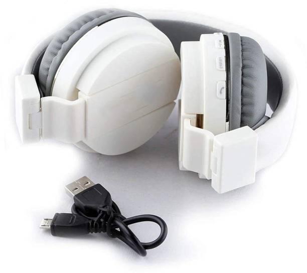 AMUSING Deep Bass SH12 Foldable bt Headphone with Mic FM+SD Card ,Call Bluetooth Headset