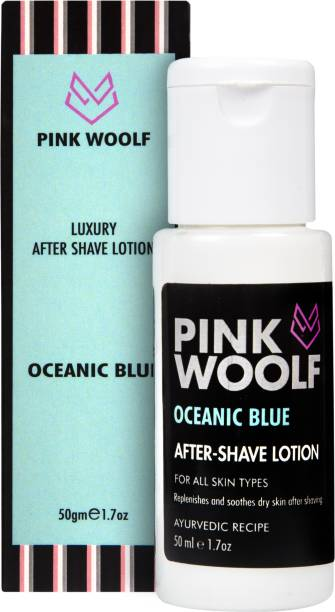 Pink Woolf After Shave Lotion - Oceanic Blue
