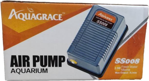 AQUAGRACE Aquarium Air Pump (SS008) by Foodie Puppies Air Aquarium Pump