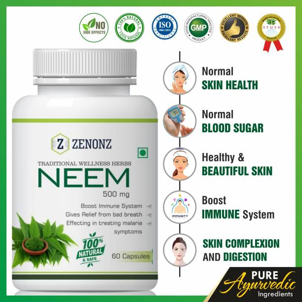 zenonz Neem for blood purifier capsules 100% Natural