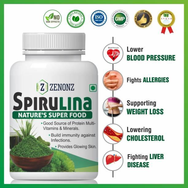zenonz Spirulina for super food capsules 100% Natural