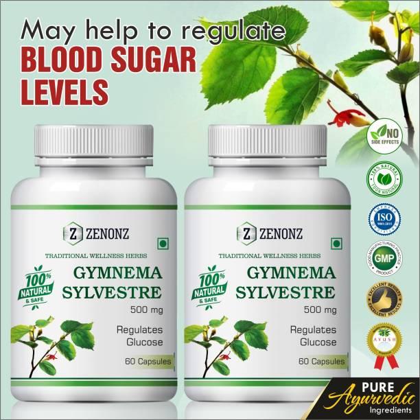 zenonz Gymnema Sylvestre Ayurvedic Capsules For May Help To Regulate Blood Sugar Levels (120 Capsules)