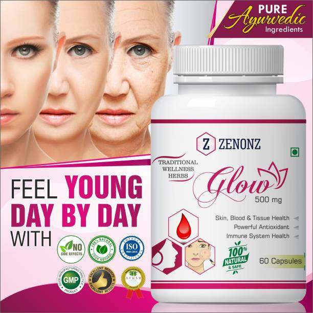 zenonz Glow Herbal Capsules For Enhance Women's Beauty Supplement 100% Ayurvedic