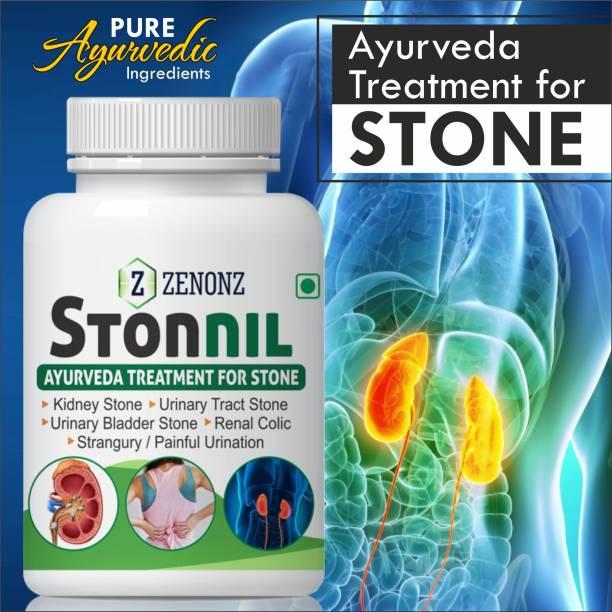 zenonz Stonnil Capsules For Dissolve Kidney Stones Support Urinary tract health 100% Ayurvedic (60 Capsules)