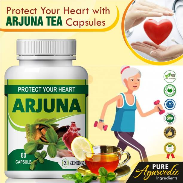 zenonz arjun tea herb essential for heart care capsules
