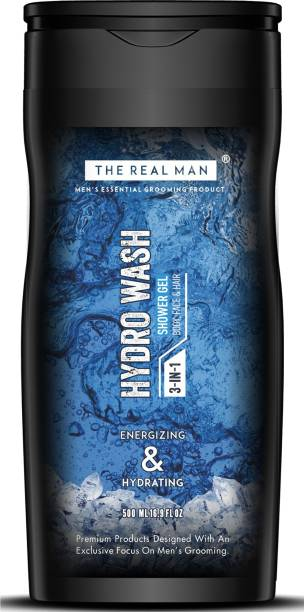 THE REAL MAN 3 in 1 Hydro Wash Shower Gel 500ml | Made in India.