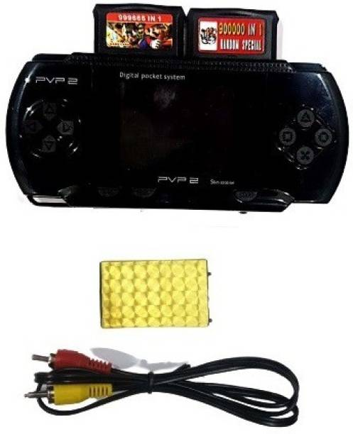 Clubics PVP2 - Video Game 16 bit for Kids (Black) with Super Mario, Contra 1 GB with Super Mario