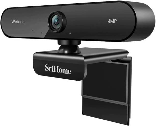Srihome SH002 4MP Web camera 110° Wide-Angle Built-in Noise Cancelling Microphone Plug and Play Live Streaming Video Conference webcam for PC/Laptop/Android TV Box/Android TV Security Camera