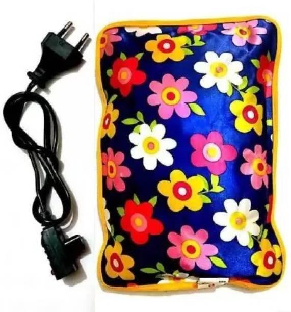 LH MED Velvet Pocket Heat Gel Pad Electric 1 L Hot Water Bag (Multicolor) ELECTROTHERMAL WATER BAG 1000 ml Hot Water Bag