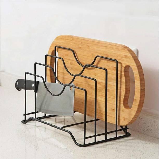 Dime Store Freestanding Pot stand / tawa stand / pan stand / kitchen organiser for storage-black Utensil Kitchen Rack
