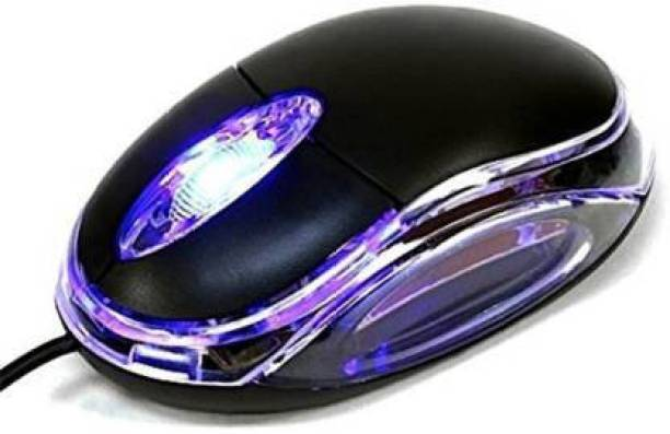 Shivsoft Wired Optical Mouse (USB, Black) Wired Optical Mouse