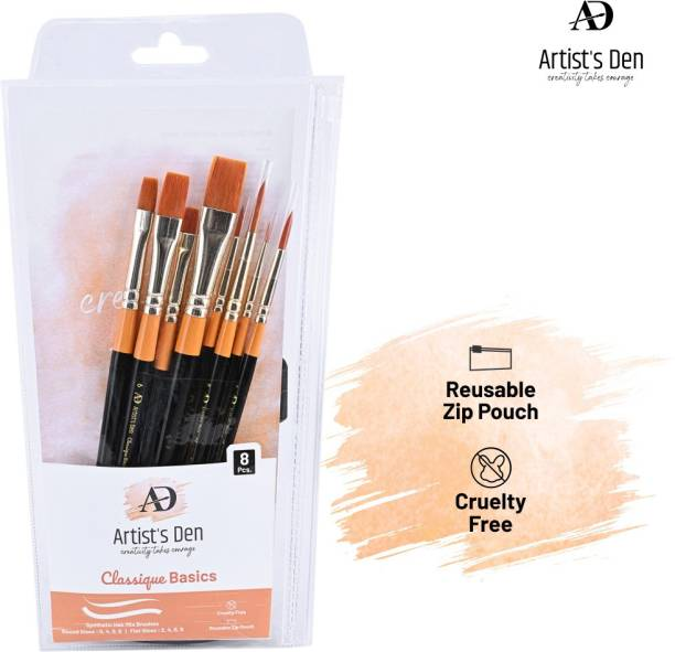 Artist's Den Set of 8 Brushes Mix For Painting