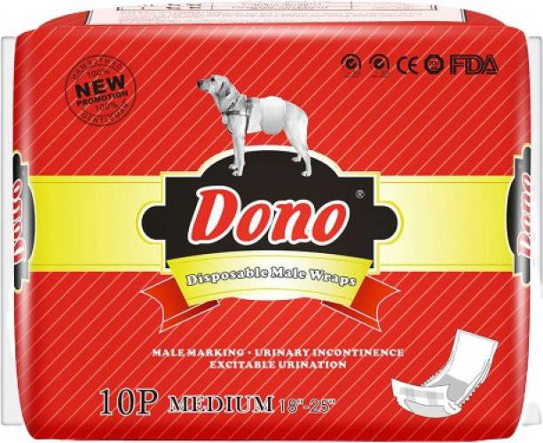 Dono Male Wraps Dog Diapers Super Absorbent Soft Male Dog Wraps Disposable Dog Diapers