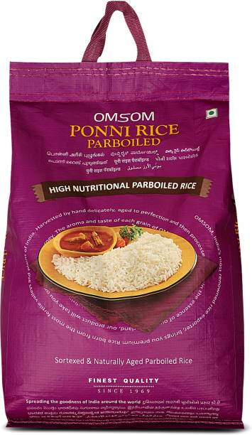 OMSOM Ponni rice parboiled Ponni Rice (Medium Grain, Parboiled)