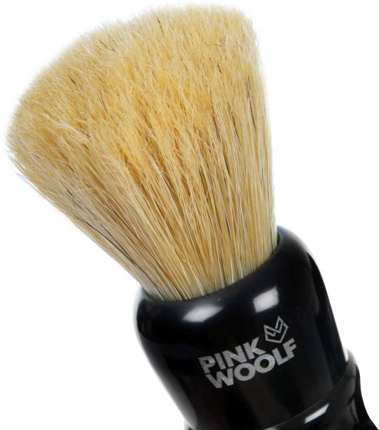 Pink Woolf Natural Bristle  - 25mm - Made in India Shaving Brush