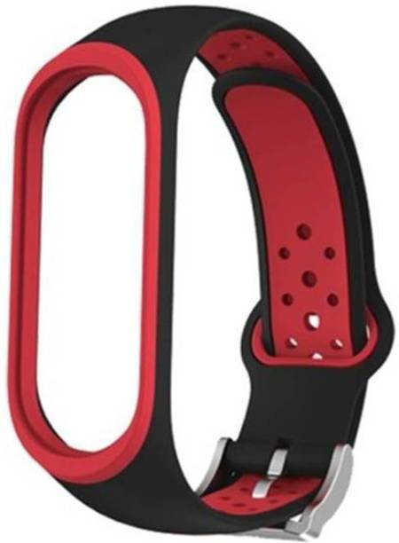 TECHWIND WATCH STRAPS, [WITH BRACELET LOCK ] SILICON WATCH STRAP FOR ONLY (WATCH NOT INCLUDED) RED DOT BLACK Smart Watch Strap