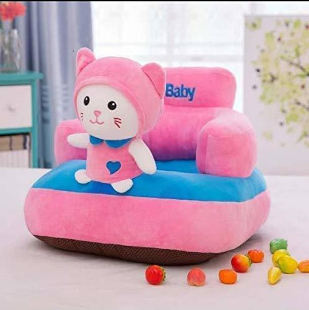 Kiddietown Kitty Shape Soft Plush Cushion Baby Sofa Seat or Rocking Chair for Kids  - 45 cm