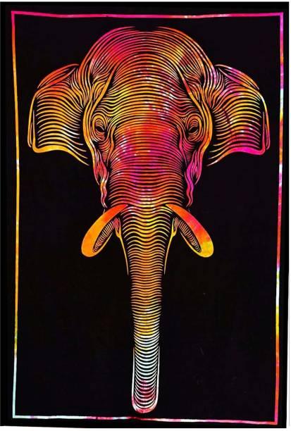 Heyrumbh Handicrafts Elephant Wall Decoration Cotton Elephant Tapestry