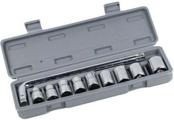 AutoSun 10 pcs Socket Wrench Set Spanner Car Ship Machine Repair Service Tools Kit 10 PCS SOCKET SET Single Sided Socket Wrench
