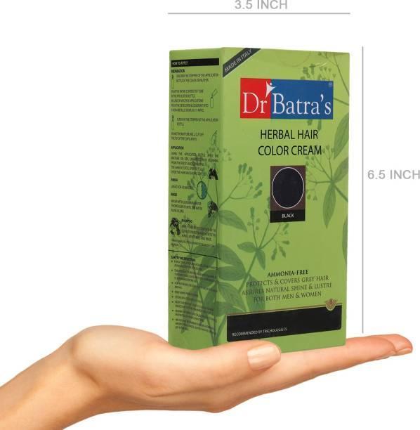 Dr Batra's Herbal Hair Color Cream Balck - 130 gm , Black