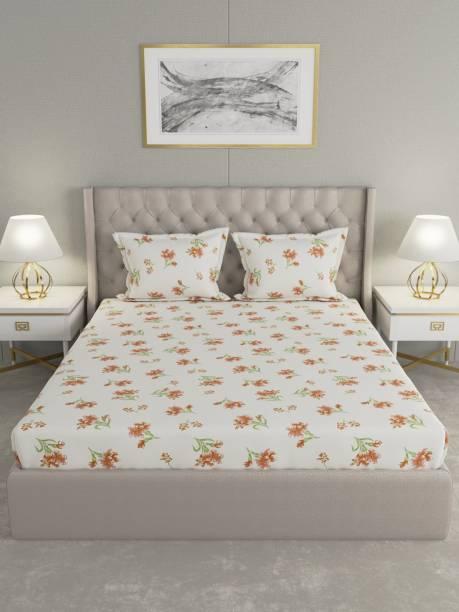Raymond Home 104 TC Cotton Double Floral Bedsheet