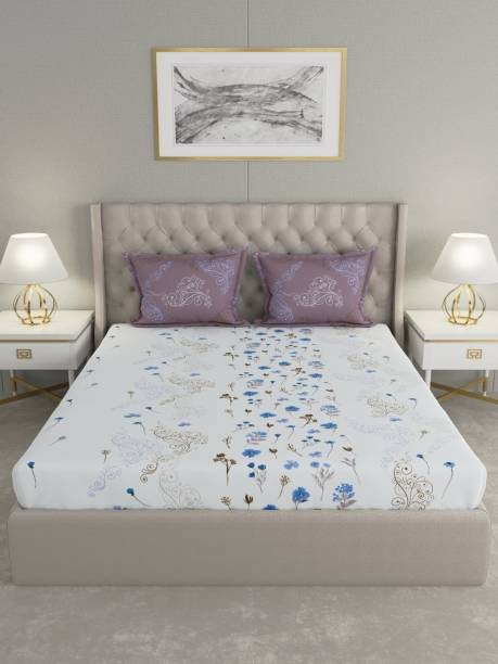 Raymond Home 144 TC Cotton Double Floral Bedsheet