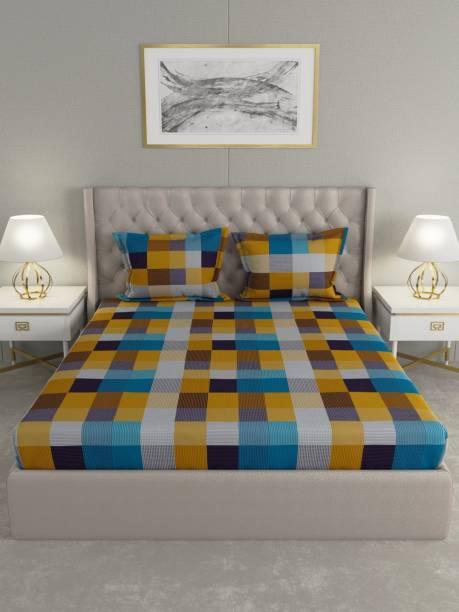 Raymond Home 104 TC Cotton Double Geometric Bedsheet