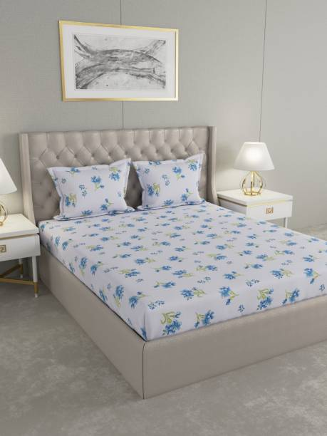 Raymond Home 104 TC Cotton Double Floral Bedsheet