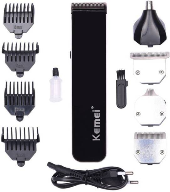 Kemei KM 3580 4 in 1 Rechargeable Grooming Kit  Runtime: 45 min Trimmer for Men
