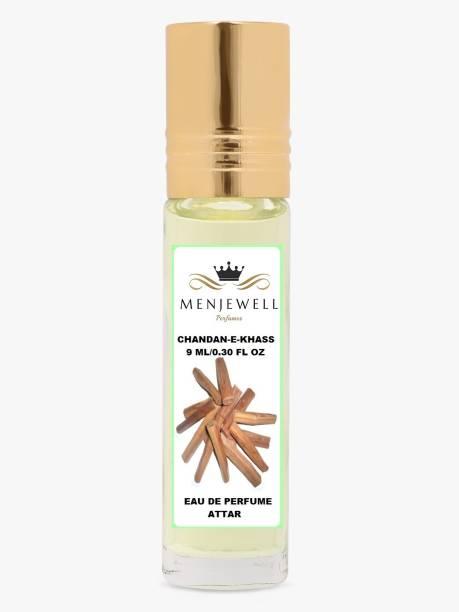 Menjewell Fragrances Chandan-E-Khas (Natural Itar/Attar/Perfume) Sandalwood Attar 9ML Floral Attar